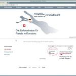 Lieferadresse angeben - Screenshot Kundenbereich für eine Lieferadresse - miradlo versanddepot