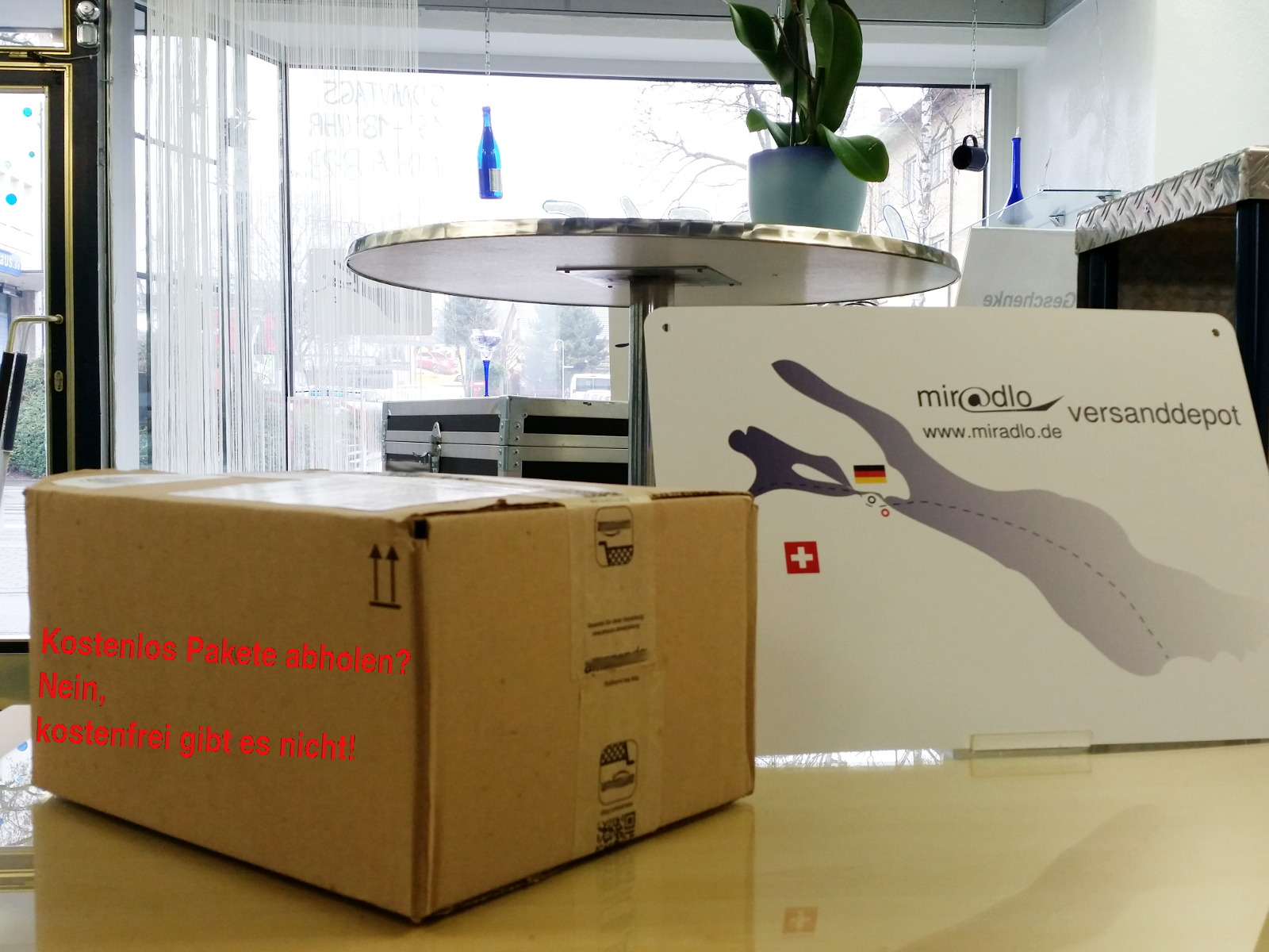 Pakete kostenlos abholen - das gibt es nicht bei Lieferadressen