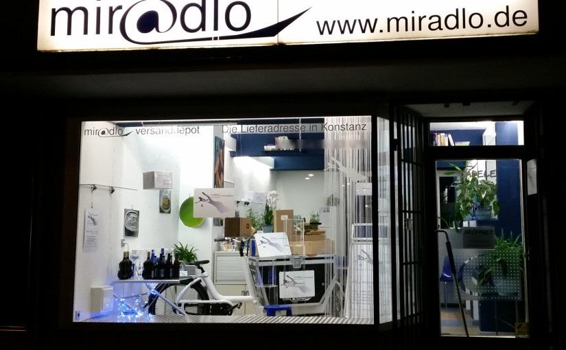 miradlo-Versanddepot ist die Lieferadresse Deutschland