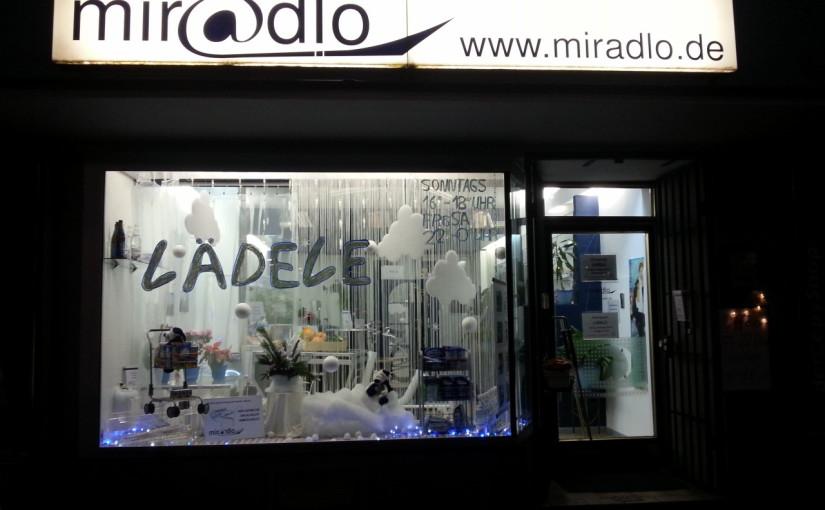 Winter im miradlo-Schaufenster