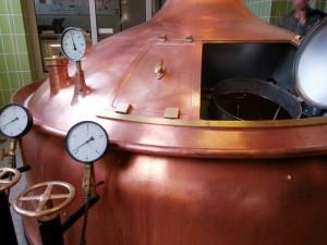 Braukessel in der Ruppaner Brauerei