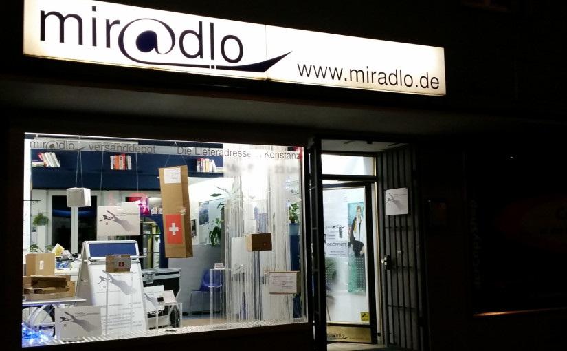 miradlo-Versanddepot nutzt Währungschaos