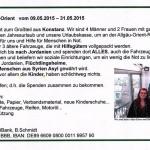 Aufruf und Spendenkonto der Philanthropic Viators aus Konstanz - Allgäu-Orient-Rallye 2015