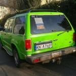 Laubfroschgrün lackiert - Fahrzeug des Frauenteams der Philanthropic Viators aus Konstanz - Allgäu-Orient-Rallye 2015