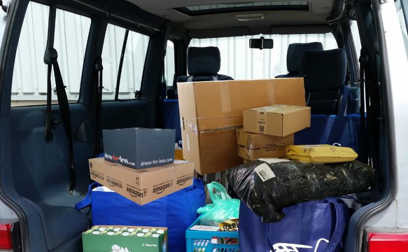 Pakete in den Kofferraum liefern lassen