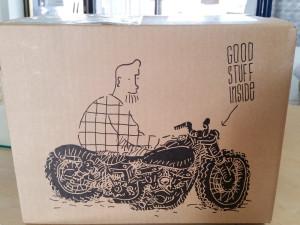 Versandkarton mit Motorradmotiv - ein Hingucker!