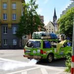 Erstaunlich das am 8.5. so rauchende Mädelsauto kam am 29.5. in Amman an - Team RallyeViators aus Konstanz bei der Allgäu-Orient-Rallye 2015 nach Amman, Jordanien