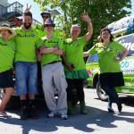 Das Team im Foto mit Namen - am Starttag Team RallyeViators aus Konstanz bei der Allgäu-Orient-Rallye 2015 nach Amman, Jordanien