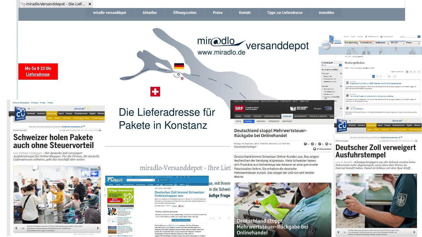 Presse: Deutscher Zoll verweigert Ausfuhr bei Nutzen einer Lieferadresse - keine Mwst-Rückerstattung