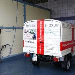 Apelina waschen und hübsch machen fürs Apetreffen - von Konstanz zum Ape-Treffen - Herznach, Aargau, Schweiz - Lieferadresse