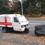 Apelina geparkt vor und nach dem Wegtragen, auf den Radweg, Wollmatinger Straße, Konstanz, miradlo-Versanddepot Lieferadresse