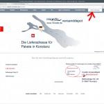"""miradlo.de-""""Startseite für Kunden"""" nach dem Anmelden, hier """"Meine Sednungen"""" wählen - miradlo-Versanddepot Kunden werben Kunden - Lieferadresse Konstanz"""