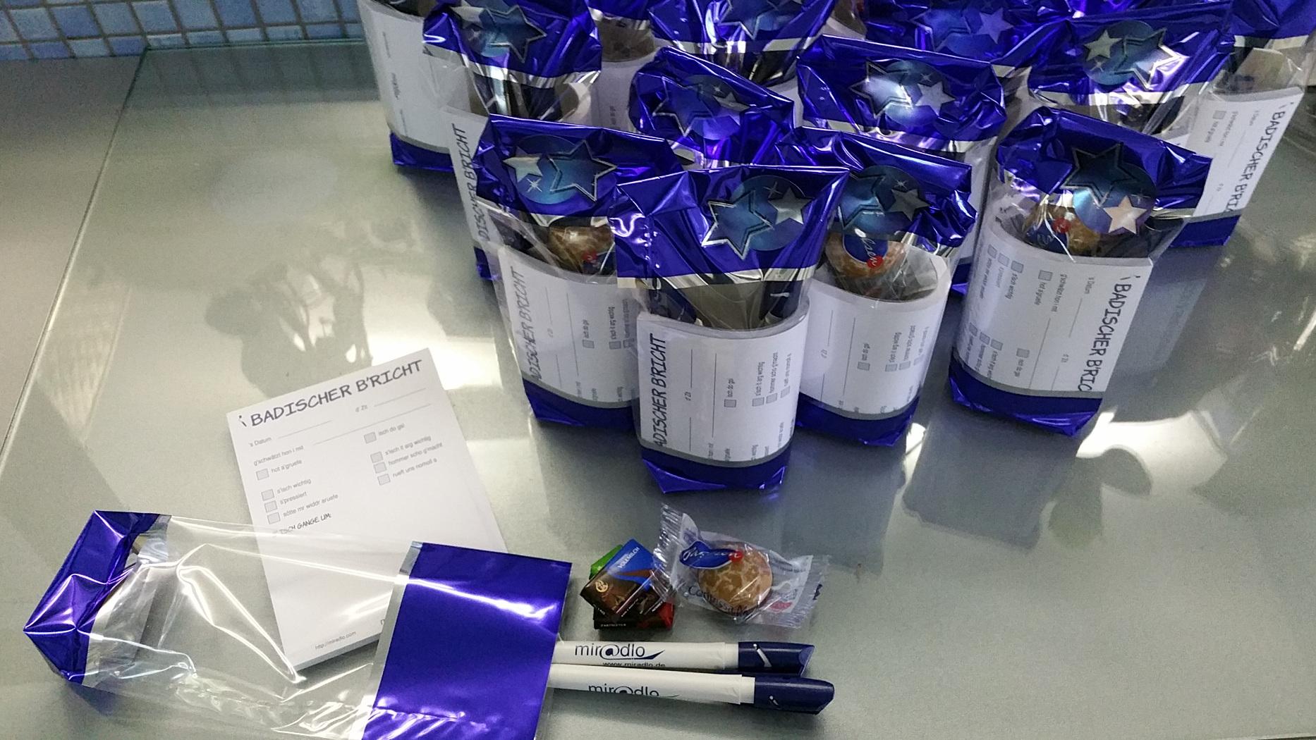 - Neujahrspäckle als Dankeschön für unsere miradlo-Versanddepot-Kunden - die Lieferadresse in Konstanz