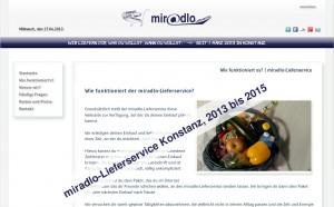 miradlo-Lieferservice Konstanz, von 2013 bis 2015