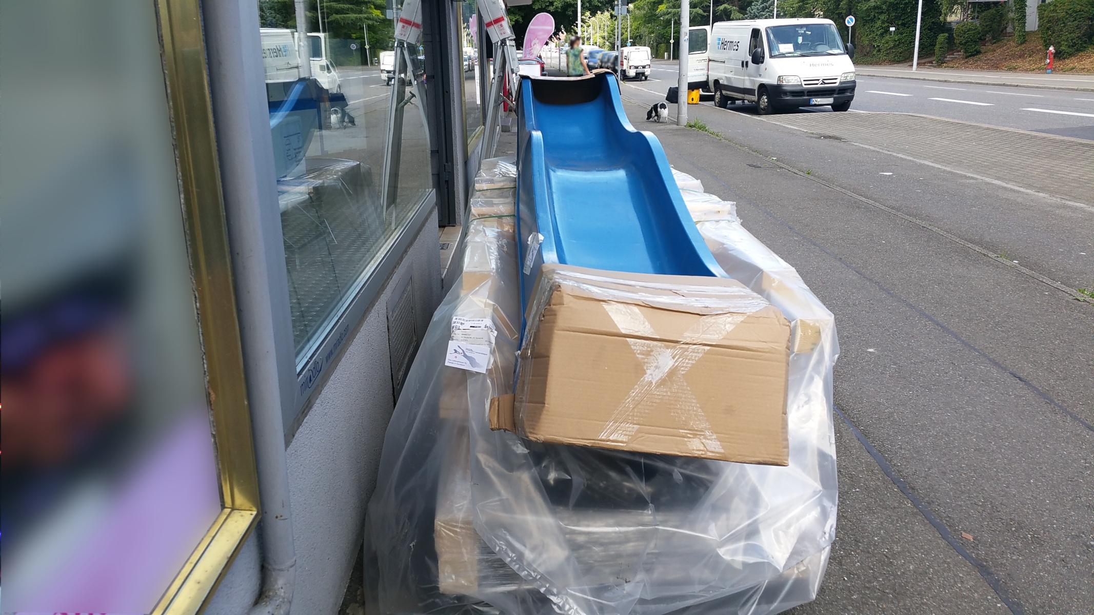 miradlo Versanddepot, die Lieferadresse in Konstanz, auch für Rutschen