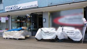 miradlo Versanddepot, die Lieferadresse in Konstanz, auch für Rutschen und Fahrräder