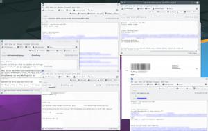 Sendungsinformationen mal zu wenig, hier zu viele, Screenshot Mailflut, miradlo Versanddepot