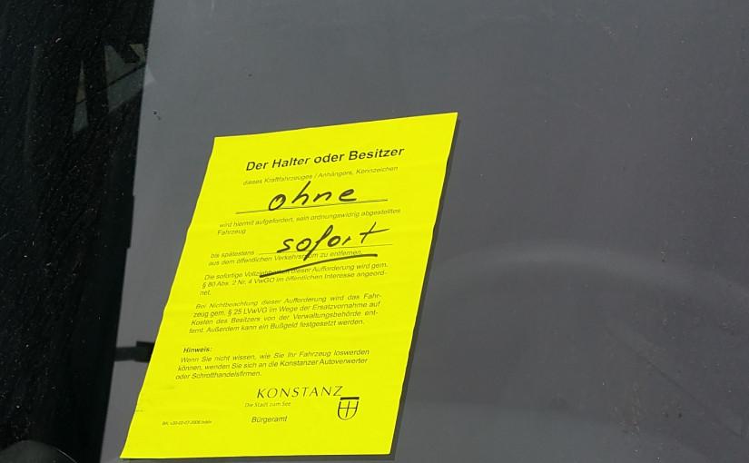 …und immernoch: Kurzparkplatz besetzt seit September in Konstanz