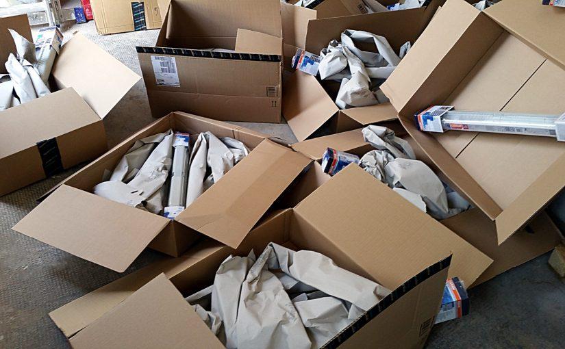 10 Artikel bestellt – 10 Einzellieferungen – Versandwahnsinn und Verpackungswahnsinn