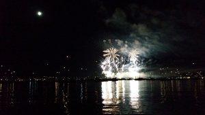 Seenachtsfest Konstanz - vom See aus betrachtet - ab 19 Uhr ist die Innenstadt gesperrt