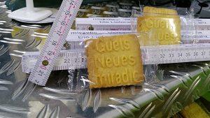 Neujahrspäckle - Guets- Neues-miradlo-Keks und Meter mit Winkel - miradlo Versanddepot