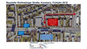 Parkmöglichkeiten rund um miradlo in Konstanz während der Baustelle Wollmatinger Straße von März bis Mai 2018
