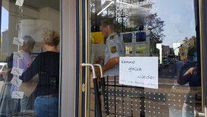 Einbruch - Aufnahme Schäden durch Polizei und Spurensicherung - miradlo-Versanddepot Konstanz