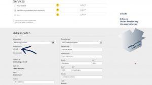Online-Frankierung DHL, miradlo-Kunden können als Absender ihre miradlo-Lieferadresse nutzen - miradlo-Versanddepot Konstanz