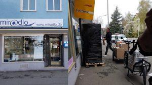 UPS liefert in Konstanz Petershausen Pakete derzeit mit Fahrrad aus - miradlo-Versanddepot - Paketlieferdienste