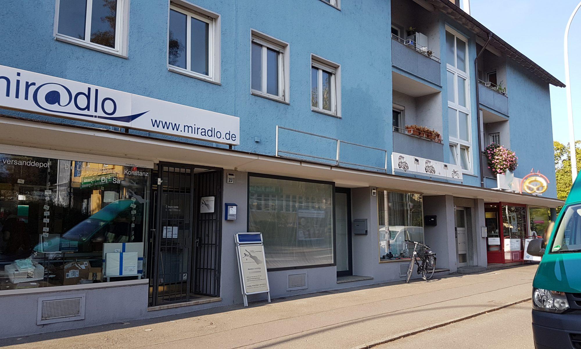 Polizei beim miradlo-Versanddepot - Symbolbild, Lieferadresse Konstanz
