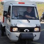 Apelina Roland am Steuer, Foto von www.ape-on-tour.ch - Apetreffen Herznach, AG