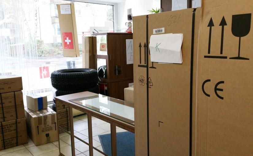 Pakete, Päckle, Reifen, Riesenkisten - Lieferadresse miradlo Versanddepot