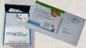 Werbung, Werbepost, unverlangter Papierkram für Kunden unserer Lieferadresse, miradlo Versanddepot