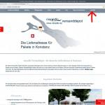 """miradlo.de-Startseite """"Anmelden"""" anklicken - miradlo-Versanddepot Kunden werben Kunden - Lieferadresse Konstanz"""