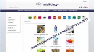 miradlo-Lieferservice Konstanz, Produkte, von 2013 bis 2015