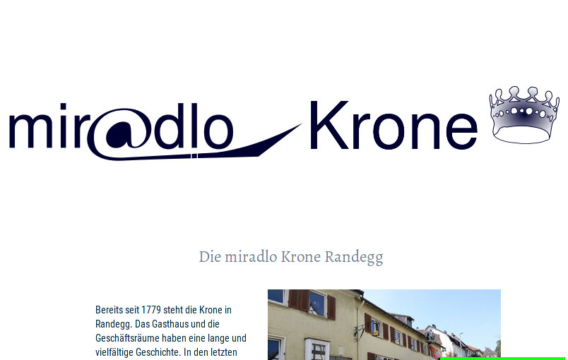 miradlo-Versanddepot-Filiale in Randegg, mehr zur miradlo Krone, siehe krone-randegg.de