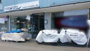 miradlo Versanddepot, Sendungen von Hermes, an unsere Lieferadresse in Konstanz