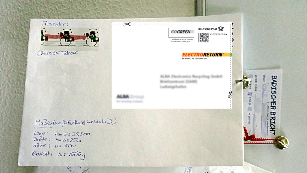 Elektrokleinteile per Brief kostenlos entsorgen - miradlo Tipps