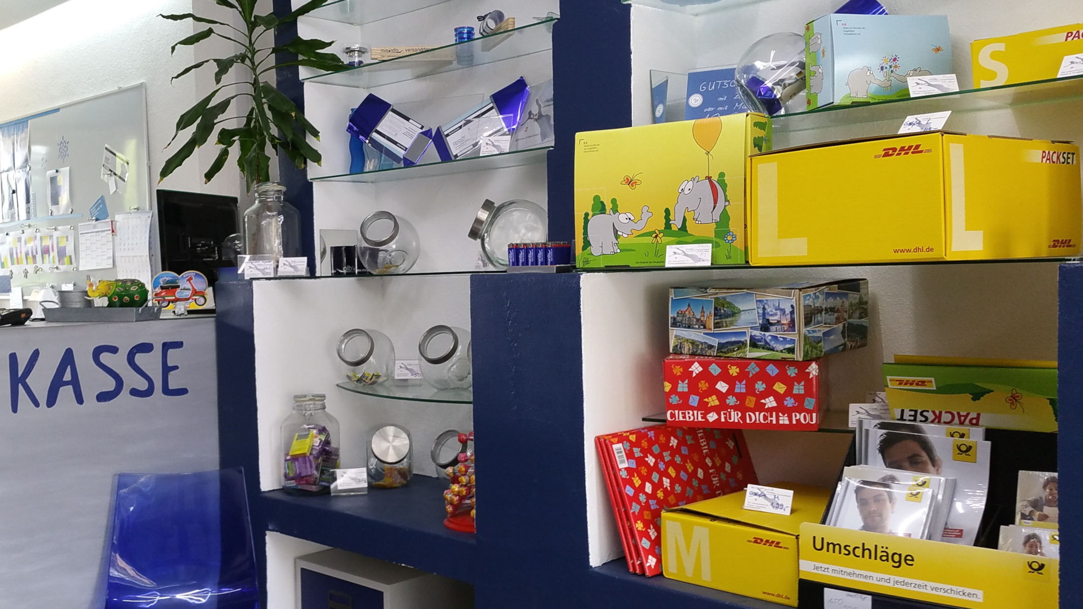 Packsets, Umschläge und Co beim miradlo Versanddepot Konstanz in unserem DHL-Paketshop