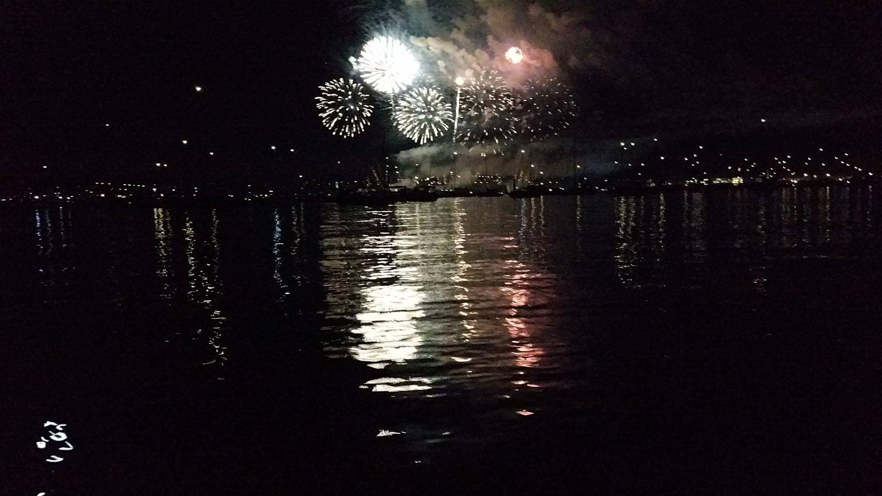 Seenachtsfest Konstanz - vom See aus betrachtet - Bodensee und Innenstadtsperrung - miradlo ab 18 Uhr geschlossen