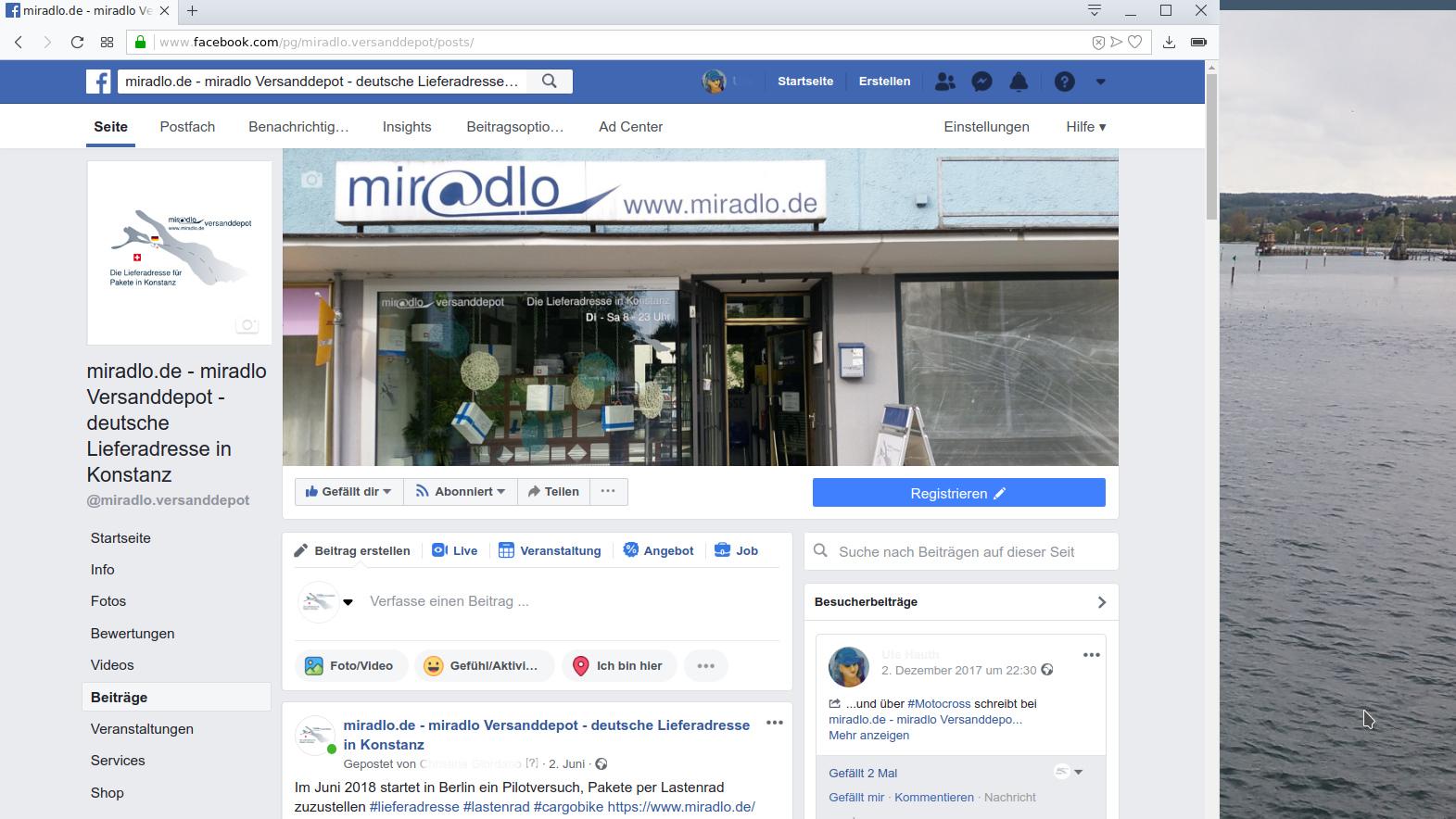 miradlo ist seit heute zurück auf Facebook - miradlo-Versanddepot-